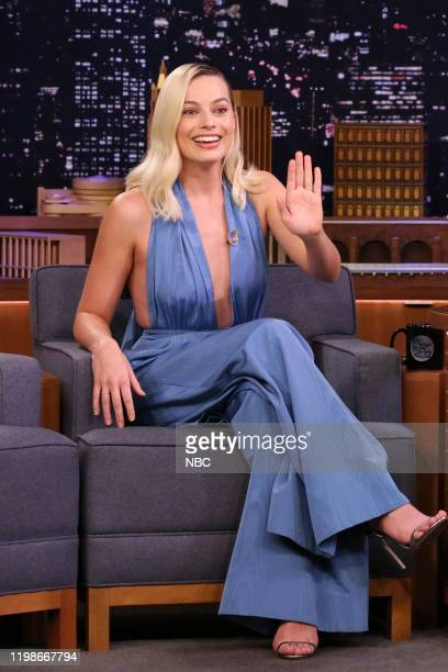 Episode 1202 -- Pictured: Actress Margot Robbie during an interview on February 4, 2020 --
