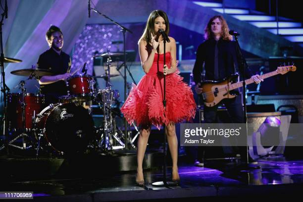 SHOW Episode 1203A Disney Channel star Selena Gomez The Scene performed their newest single Who Says accompanied on the floor by series pros Mark...