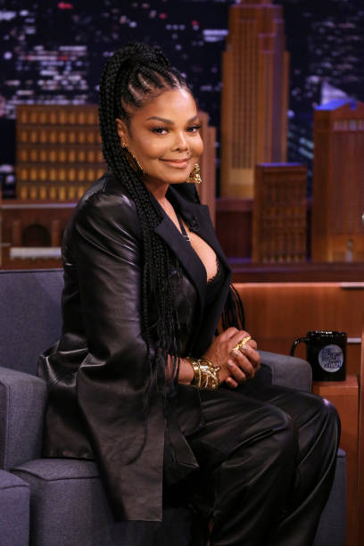 "NY: NBC's ""Tonight Show Starring Jimmy Fallon"" With Guests Janet Jackson, Jane Levy, Jo Firestone"