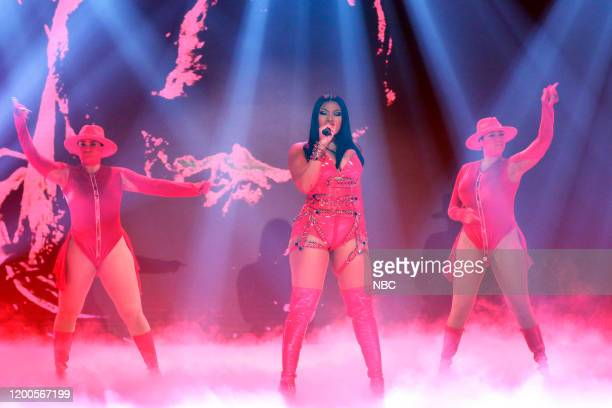 Musical guest Megan Thee Stallion performs on February 13 2020