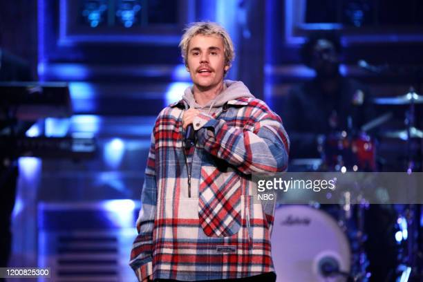 Musical guest Justin Bieber featuring Quavo performs on February 14 2020