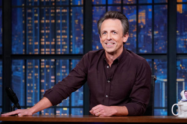 """NY: NBC'S """"Late Night With Seth Meyers"""" With Guests Beanie Feldstein, Norman Lear, LADY A (Band Sit-In: Atom Willard)"""