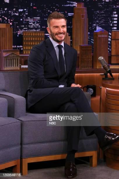 Soccer player David Beckham during an interview on February 26 2020
