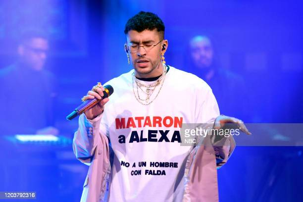 Musical guest Bad Bunny Sech performs on February 27 2020