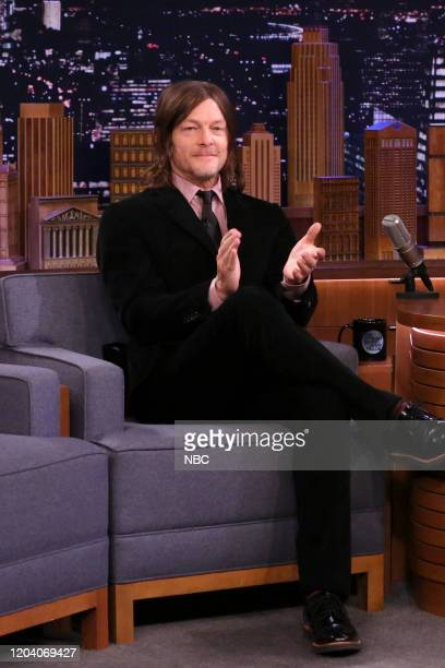 Actor Norman Reedus during an interview on February 28 2020