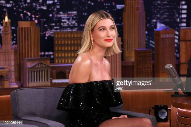 Model Hailey Bieber during an interview on February 28 2020