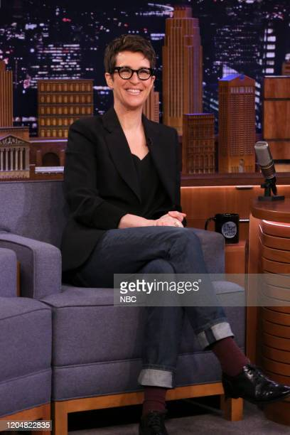 Political commentator Rachel Maddow during an interview on March 2 2020