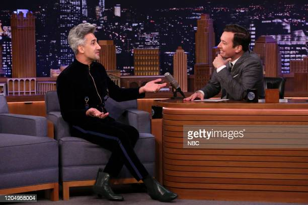 Fashion designer Tan France during an interview with host Jimmy Fallon on March 3 2020