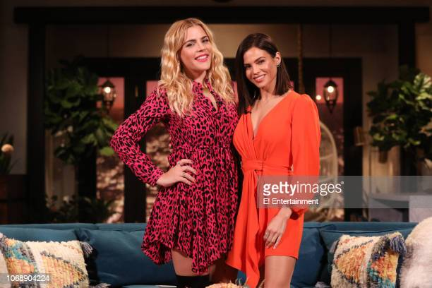 Busy Philipps and Jenna Dewan on the set of Busy Tonight
