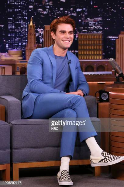 Episode 1221 -- Pictured: Actor KJ Apa during an interview on March 9, 2020 --