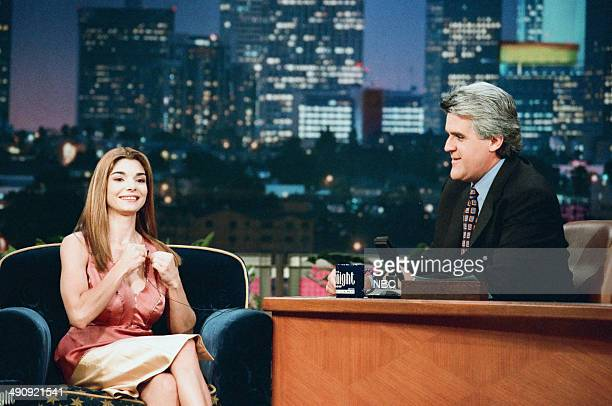 Actress Laura San Giacomo during an interview with host Jay Leno on September 10 1997