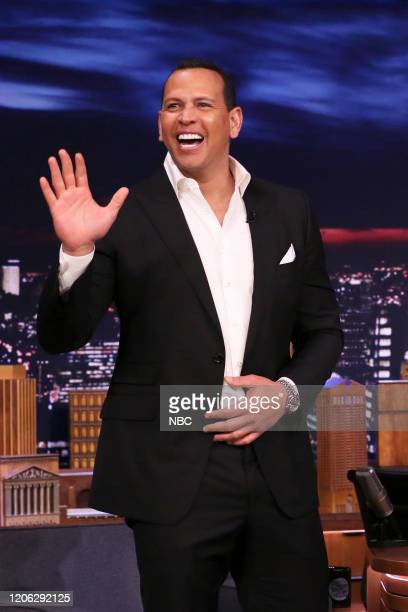 Episode 1221 -- Pictured: Former baseball player Alex Rodriguez arrives on March 9, 2020 --