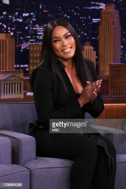 Episode 1223 -- Pictured: Actress Angela Bassett during an interview on March 11, 2020 --