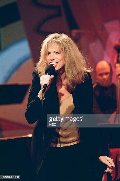 Musical guest Carly Simon performs on September 26 1997