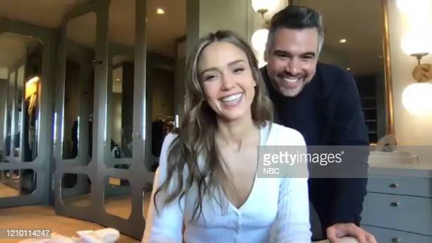Episode 1233E -- Pictured in this screengrab: Actress Jessica Alba and husband Cash Warren on April 2, 2020 --