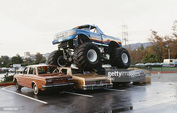 Bigffot Monster Truck drives over cars on December 7 1992