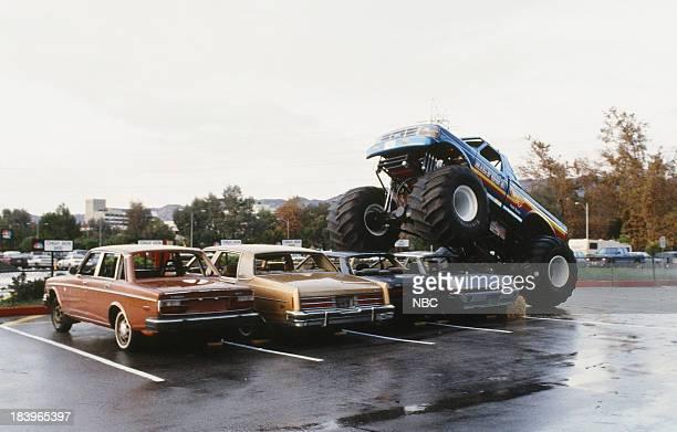 Bigffot Monster Truck drives over cars on December 7 1992