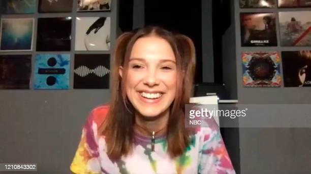 Episode 1242E -- Pictured in this screengrab: Actress Millie Bobby Brown on April 15, 2020 --