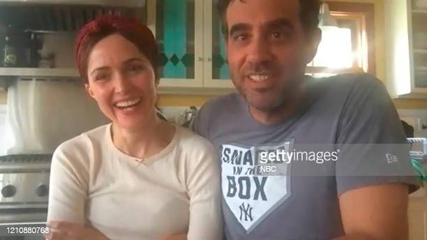 Episode 1244E -- Pictured in this screengrab: Rose Byrne and Bobby Cannavale on April 17, 2020 --