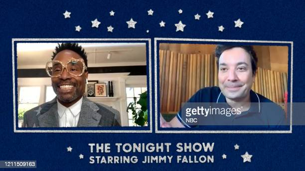 FALLON Episode 1251E Pictured in this screengrab Actor Billy Porter and host Jimmy Fallon on April 28 2020