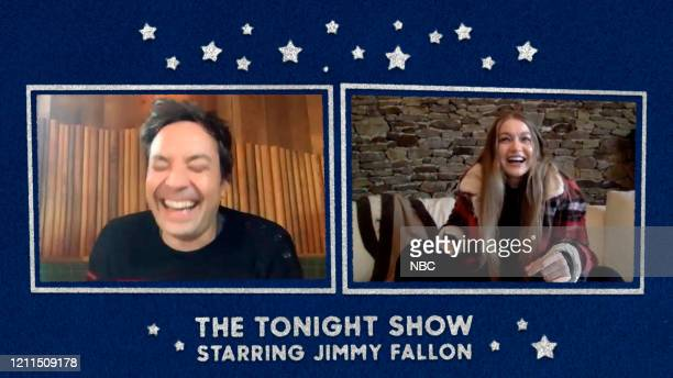 FALLON Episode 1253E Pictured in this screengrab Host Jimmy Fallon and model Gigi Hadid on April 30 2020