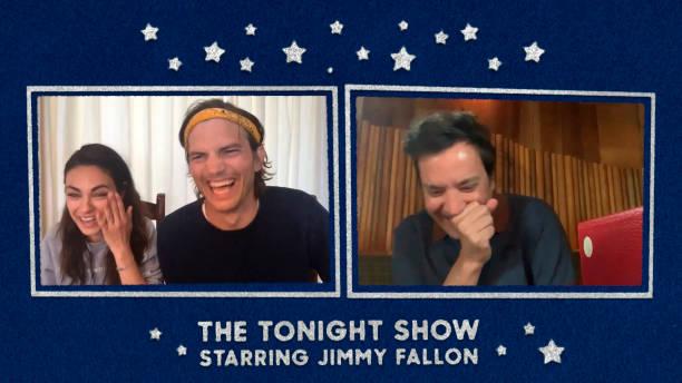 "NY: NBC's ""Tonight Show Starring Jimmy Fallon"" with guests Ashton Kutcher & Mila Kunis, Evan Rachel Wood, ANNIE LENNOX"