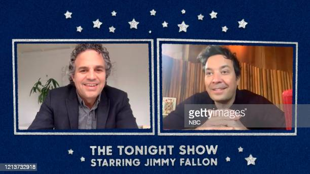 FALLON Episode 1259E Pictured in this screengrab Actor Mark Ruffalo during an interview with host Jimmy Fallon on May 8 2020