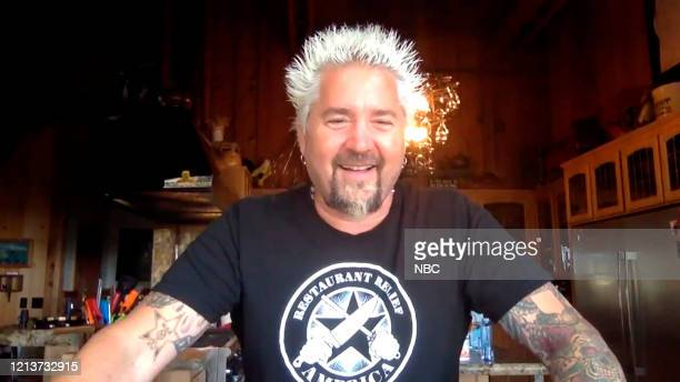Episode 1259E -- Pictured in this screengrab: Chef Guy Fieri during an interview on May 8, 2020 --