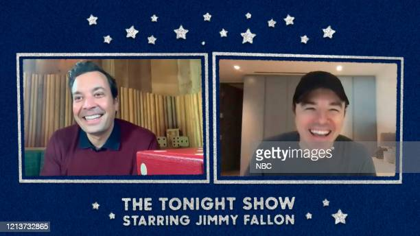 FALLON Episode 1260E Pictured in this screengrab Host Jimmy Fallon and actor Seth MacFarlane during their interview on May 11 2020