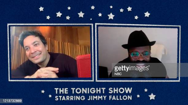 FALLON Episode 1260E Pictured in this screengrab Host Jimmy Fallon and Tariq Black Thought Trotter on May 11 2020