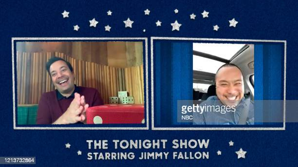 FALLON Episode 1260E Pictured in this screengrab Host Jimmy Fallon interviews chef David Chang on May 11 2020
