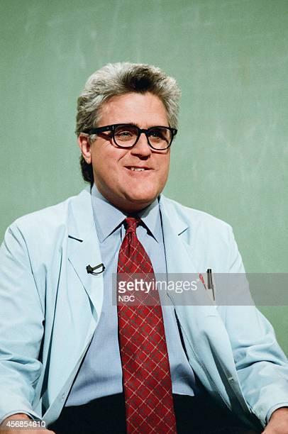 Host Jay Leno during the 'Mr Brain' skit on November 12 1997