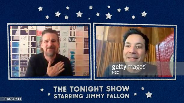 FALLON Episode 1261E Pictured in this screengrab Actor Ethan Hawke during an interview with host Jimmy Fallon on May 12 2020