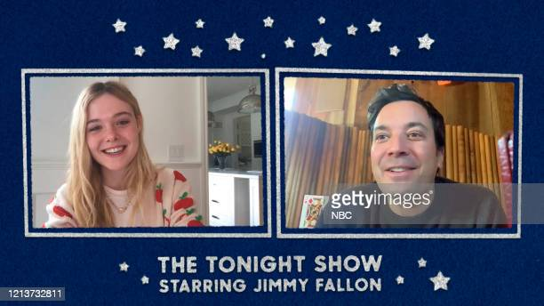 FALLON Episode 1261E Pictured in this screengrab Actress Elle Fanning during an interview with host Jimmy Fallon on May 12 2020