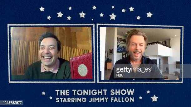 FALLON Episode 1262E Pictured in this screengrab Host Jimmy Fallon interviews actor David Spade on May 13 2020
