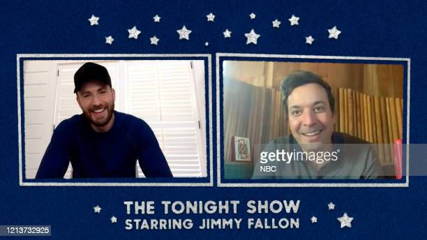 FALLON Episode 1263E Pictured in this screengrab Actor Chris Evans during an interview with host Jimmy Fallon on May 14 2020