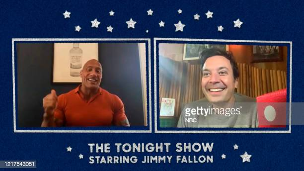 FALLON Episode 1264E Pictured in this screengrab Actor Dwayne Johnson during an interview with host Jimmy Fallon on May 15 2020