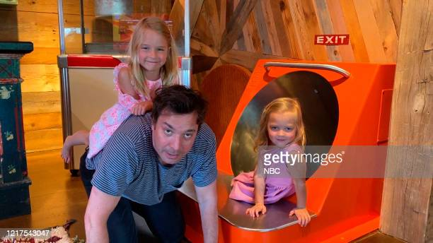 FALLON Episode 1264E Pictured in this screengrab Host Jimmy Fallon with his daughters Winnie and Franny on May 15 2020
