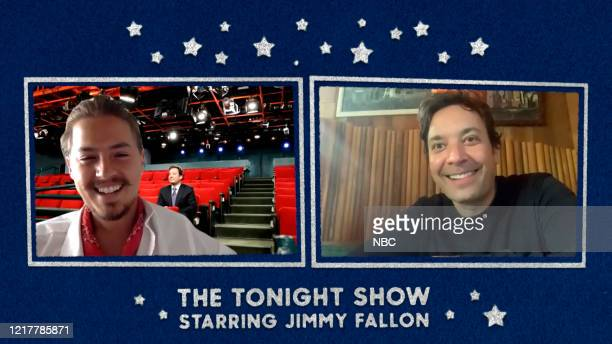 FALLON Episode 1265E Pictured in this screengrab Actor Cole Sprouse during an interview with host Jimmy Fallon on May 18 2020