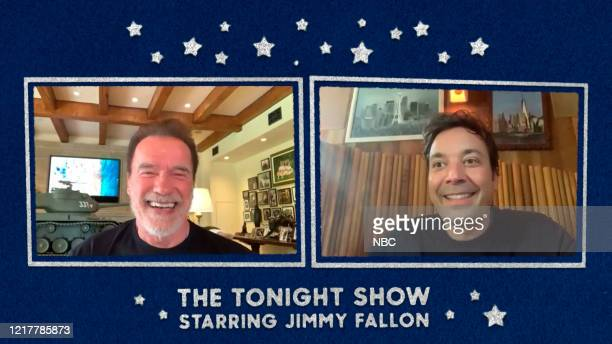 FALLON Episode 1265E Pictured in this screengrab Former Gov Arnold Schwarzenegger during an interview with host Jimmy Fallon on May 18 2020