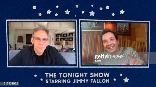 FALLON Episode 1266E Pictured in this screengrab Actor Ben Stiller during an interview with host Jimmy Fallon on May 19 2020