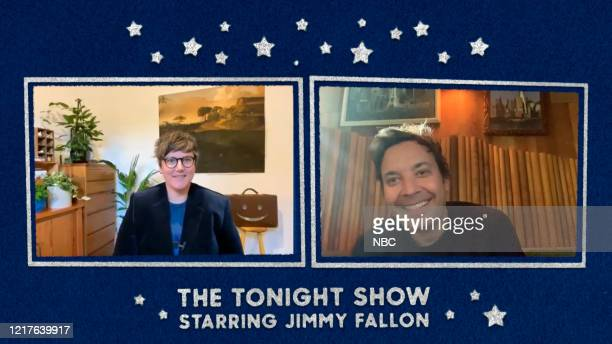 FALLON Episode 1266E Pictured in this screengrab Comedian Hannah Gadsby during an interview with host Jimmy Fallon on May 19 2020