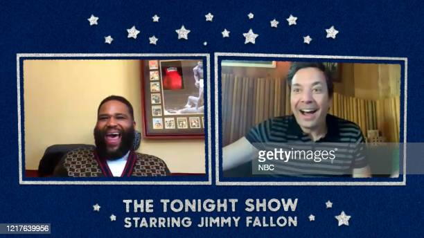 FALLON Episode 1267E Pictured in this screengrab Actor Anthony Anderson during an interview with host Jimmy Fallon on May 20 2020