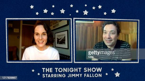 FALLON Episode 1267E Pictured in this screengrab Actress Michelle Dockery during an interview with host Jimmy Fallon on May 20 2020