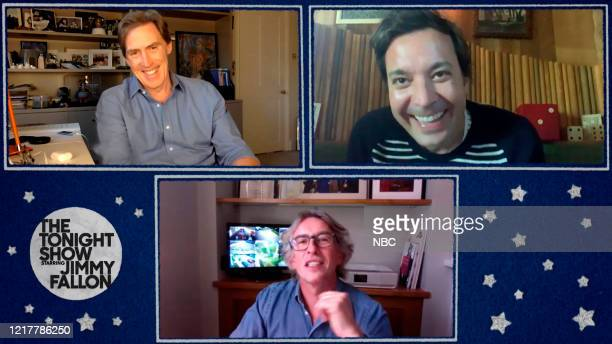 FALLON Episode 1268E Pictured in this screengrab Comedian Rob Brydon and comedian Steve Coogan during an interview with host Jimmy Fallon on May 21...