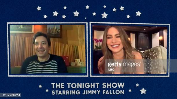 FALLON Episode 1268E Pictured in this screengrab Host Jimmy Fallon interviews actress Sofía Vergara on May 21 2020