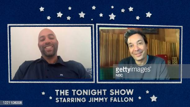 FALLON Episode 1276E Pictured in this screengrab Tennis player James Blake during an interview with host Jimmy Fallon on June 10 2020