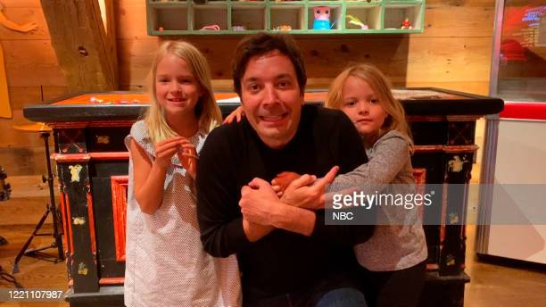 FALLON Episode 1277E Pictured in this screengrab Host Jimmy Fallon with his daughters Winnie and Franny on June 11 2020