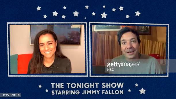 FALLON Episode 1278E Pictured in this screengrab Author Sarah Cooper during an interview with host Jimmy Fallon on June 12 2020