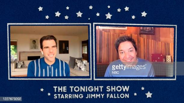 FALLON Episode 1280E Pictured in this screengrab Actor Zachary Quinto during an interview with host Jimmy Fallon on June 16 2020